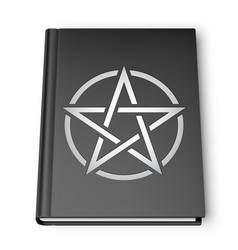 black book with pentagram vector image