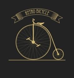 Black gold old vintage bicycle vector