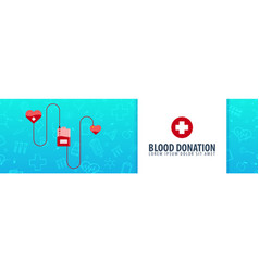 blood donation health care medicine vector image