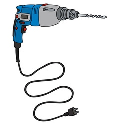Blue impact drill vector image