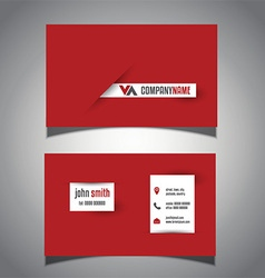 bold business card design 1008 vector image vector image