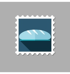 Bread flat stamp with long shadow vector image