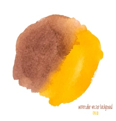 Brown and yellow watercolor circle vector
