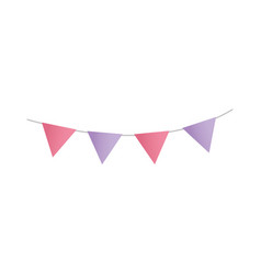 bunting flags decoration celebration party icon vector image