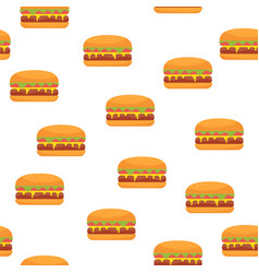 burger seamless pattern fast food vector image