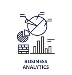 business analytics line icon concept business vector image