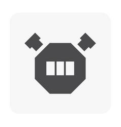 camping icon black vector image