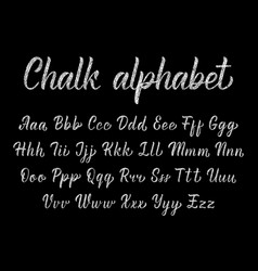 Chalk modern calligraphy elegant alphabet vector
