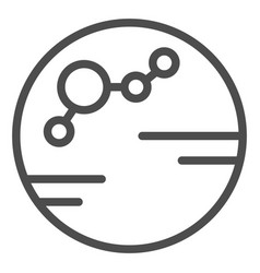 Colonized planet line icon colony vector
