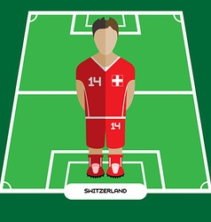 Computer game Switzerland Football club player vector