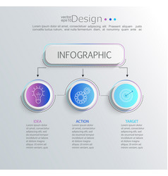 creative modern infographic with 3 steps vector image