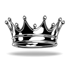 crown black and white king queen 44 vector 27403182