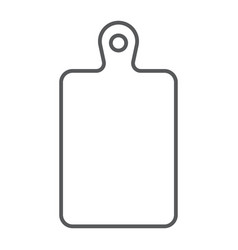cutting board thin line icon kitchen and cooking vector image