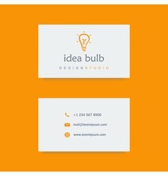 Design studio business card template vector
