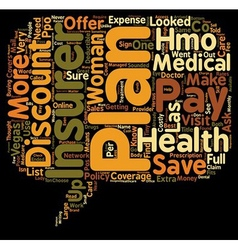 Discount Plans versus Health Insurance text vector