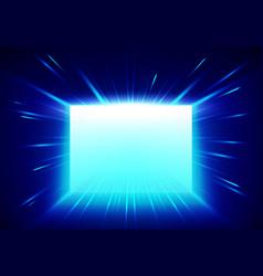 Enter gate concept glowing entrance vector