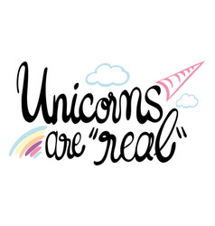 Expression for phrase unicorns are real vector
