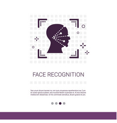 Face scanning app recognition system biometric vector