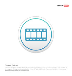 film strip icon - white circle button vector image