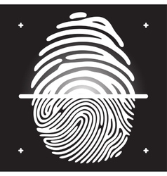 fingerprint scan vector image vector image