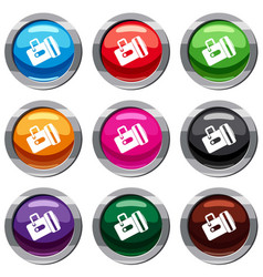 flashlight set 9 collection vector image