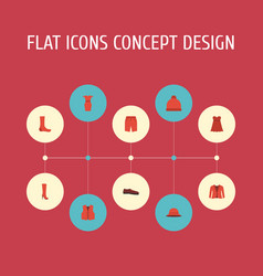 flat icons pompom swimming trunk evening dress vector image