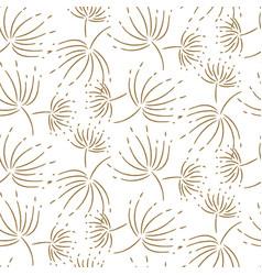 flying dandelion seamless pattern for vector image