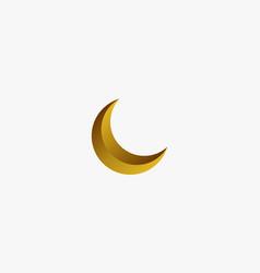 Gold crescent moon 3d graphic vector