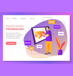 graphic design creative art studio web banner vector image