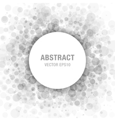 Gray Abstract Circle Frame Design Element vector image