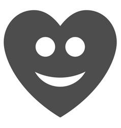 happy love heart flat icon vector image