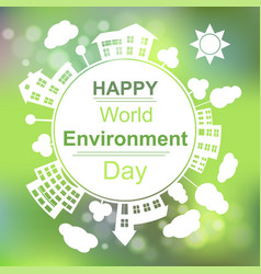 happy world environment day vector image