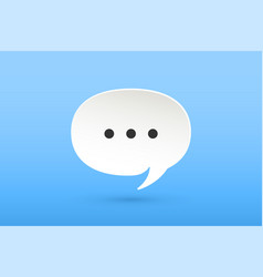 icon of white paper cloud talk for chat vector image