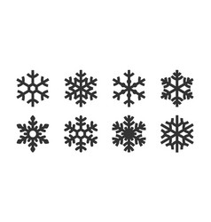 icon set snowflake variety image vector image