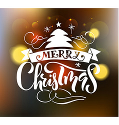 Lettering Merry Christmas for ChristmasNew Year vector