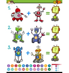 Mathematical educational game vector