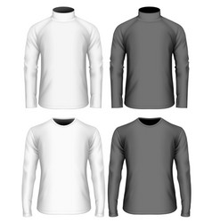 mens long sleeve t-shirt vector image