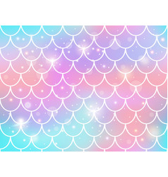 mermaid scales pattern rainbow princess mermaid vector image