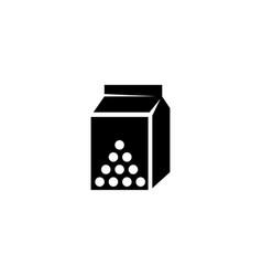 Milk container icon vector