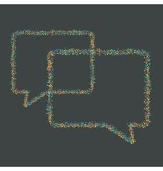 modern musical bubble speech background vector image