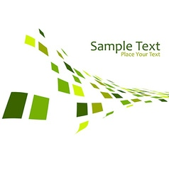 Mosaic effect in green vector