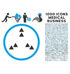 Move Out Icon with 1000 Medical Business vector image