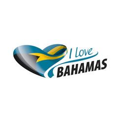 National flag bahamas in shape vector