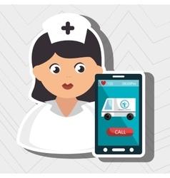 Nurse stethoscope medical service vector
