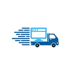 online delivery logo icon design vector image