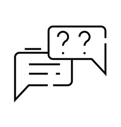 Online messages line icon concept sign outline vector