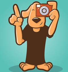 Photographer Dog vector image