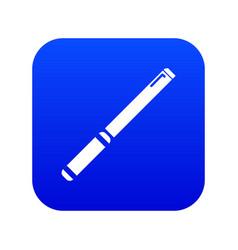 Pipe icon blue vector