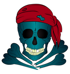 Pirate skull and bones bandana vector