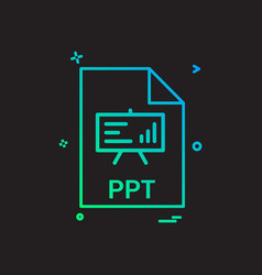 Ppt file file extension file format icon design vector